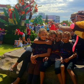 Kids on Perth Christmas float
