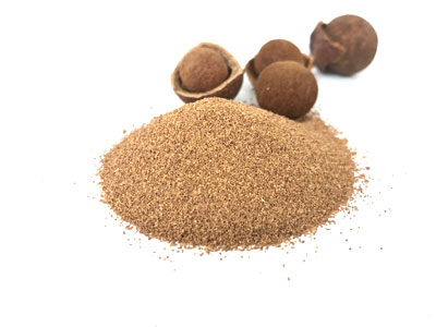 ground sandalwood nut shell
